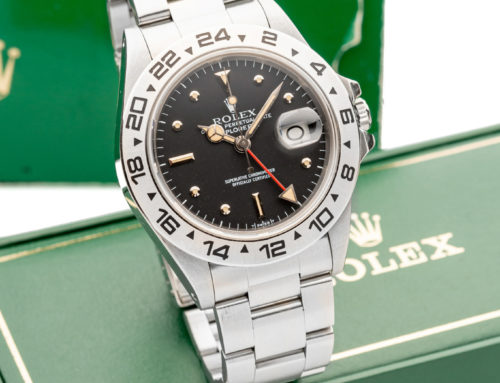 ROLEX, REF. 16550, EXPLORER II, BLACK PROTOTYPE NIPPLE DIAL, STAINLESS STEEL